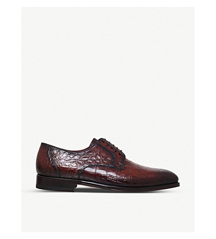 MAGNANNI Alligator leather Derby shoes (Brown