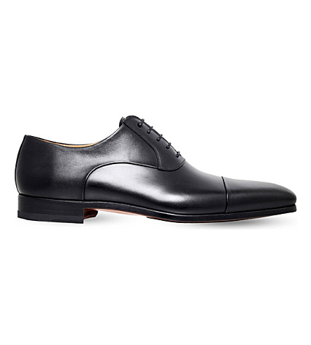 MAGNANNI Toecap-detail leather oxford shoes (Black