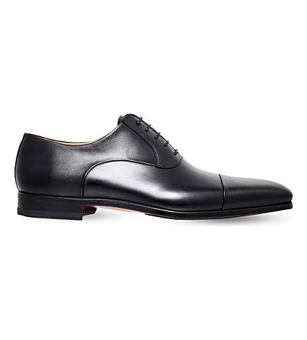 MAGNANNI Toecap-detail leather oxford shoes (Black