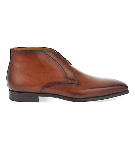 MAGNANNI Leather chukka boots (Tan