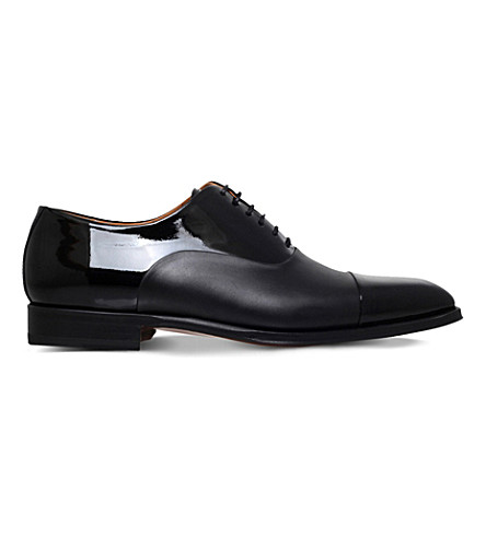MAGNANNI Cesar leather oxford shoes (Black
