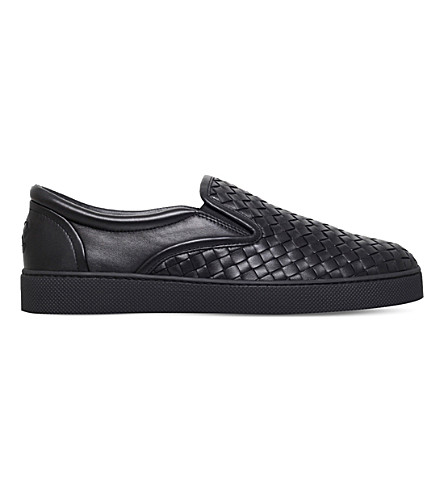 BOTTEGA VENETA Dodger 2 leather skate shoes (Black