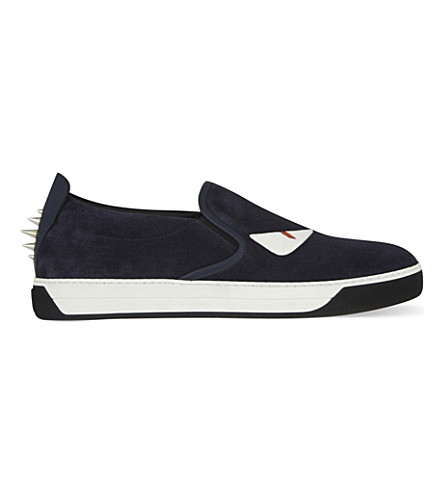 FENDI Monster suede skate shoes (Navy