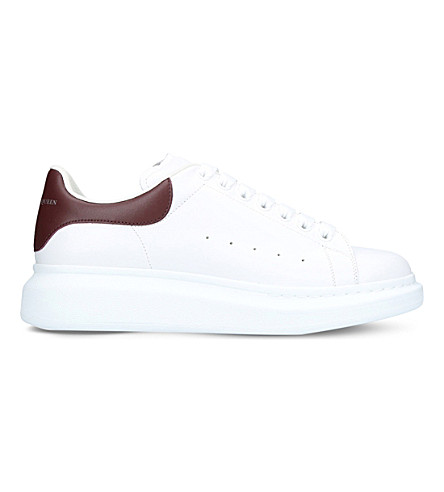 ALEXANDER MCQUEEN Show leather platform trainers (White/red