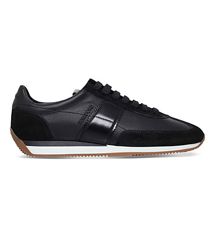 TOM FORD Orford leather trainers (Black