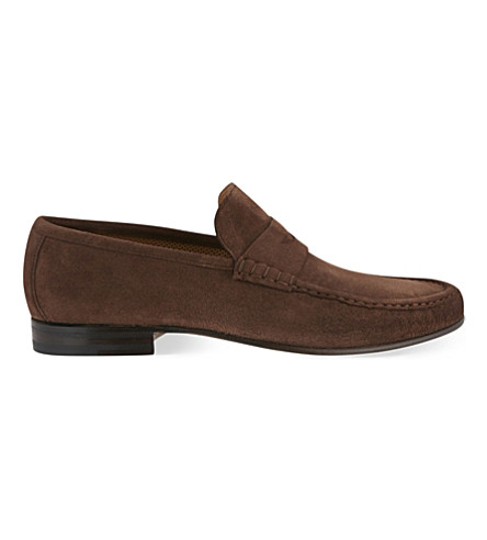 STEMAR Suede penny loafers (Mid+brown