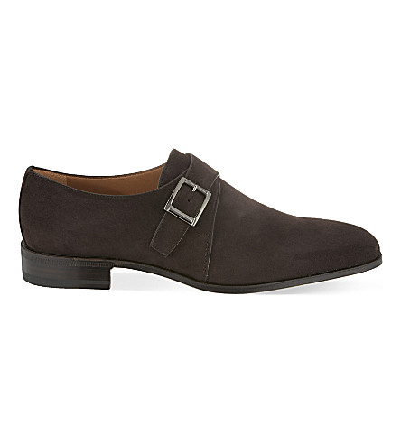 STEMAR Suede single monk shoes (Brown