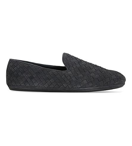 BOTTEGA VENETA Intrecciato suede slippers