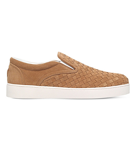 BOTTEGA VENETA Dodger II suede skater shoes (Camel