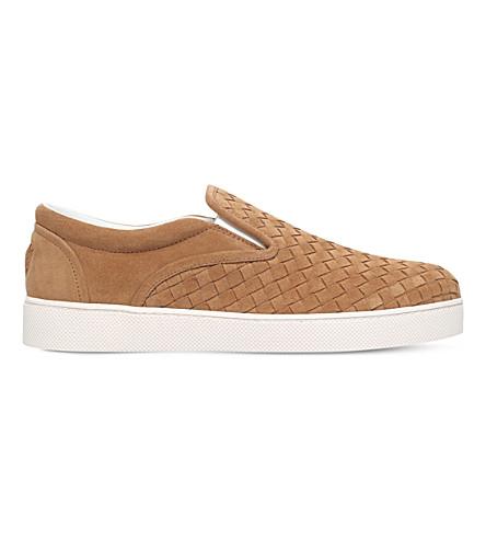 BOTTEGA VENETA 道奇 II 麂皮绒滑板鞋 (骆驼