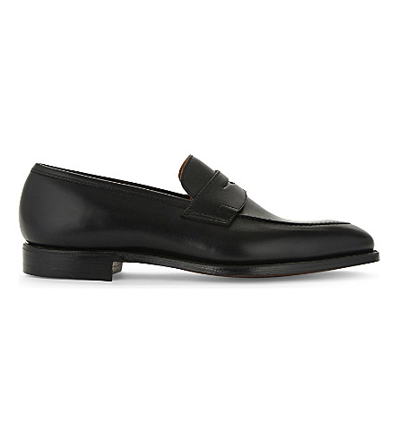 CROCKETT & JONES Sydney leather loafers (Black