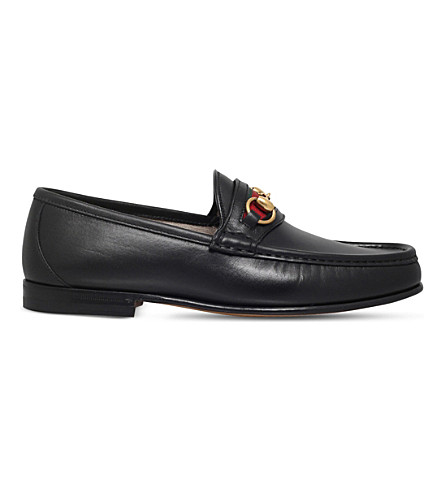 GUCCI New classic leather moccasins (Black