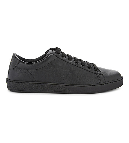 GUCCI Brooklyn leather lace-up sneakers (Black