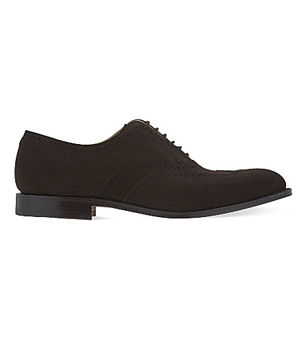 CHURCH Berlin suede oxford shoes (Dark+brown