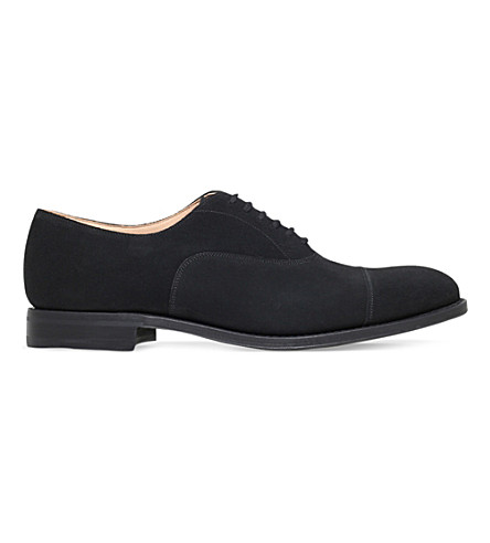 CHURCH Dubai suede Oxford shoes (Black