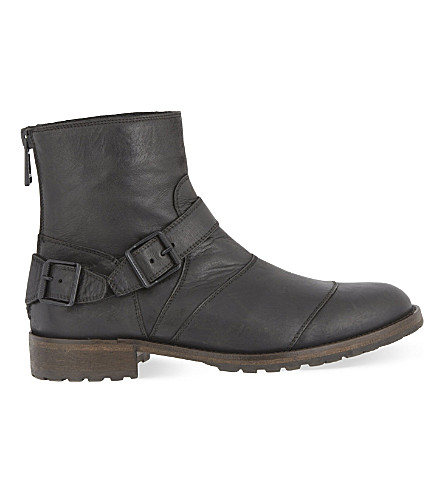 BELSTAFF Trialmaster buckle leather boots (Black