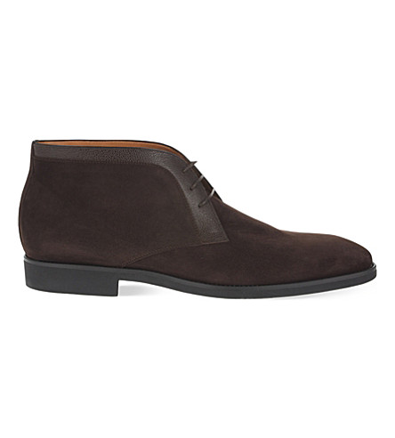 STEMAR Trim 3 eye chukka boots (Brown