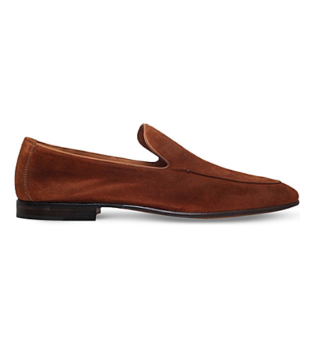 STEMAR Contrast-trim suede loafers (Tan