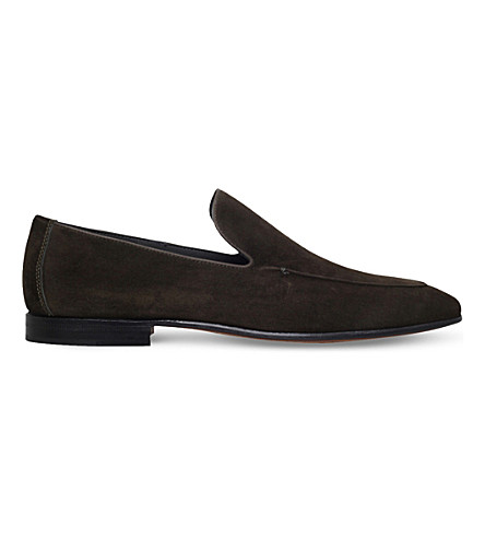 STEMAR Contrast-trim suede loafers (Dark+green