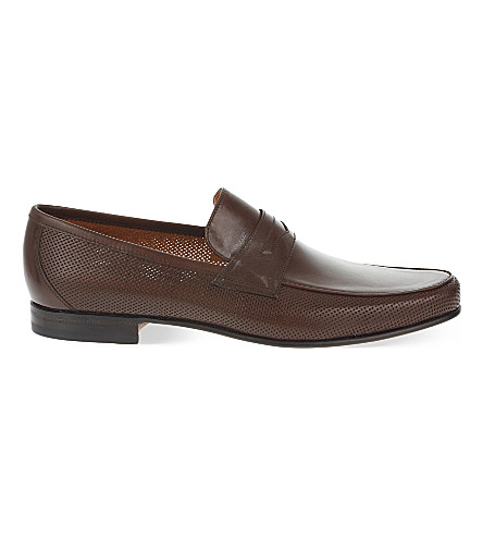 STEMAR Penny leather loafers (Mid+brown