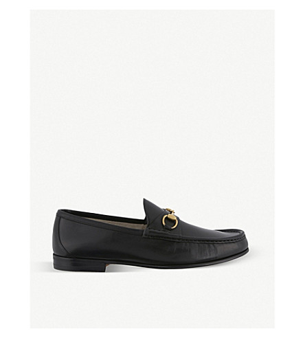 GUCCI Roos horsebit leather moccasins (Black