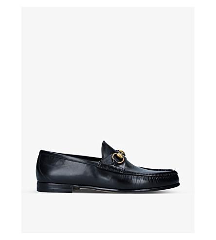 GUCCI 鲁斯马皮革皮鞋 (黑色