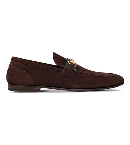 GUCCI Elanor suede loafers (Dark+brown