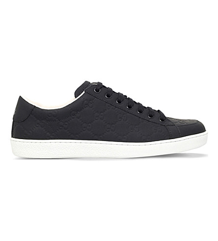 GUCCI Brooklyn guccissima leather trainers (Black