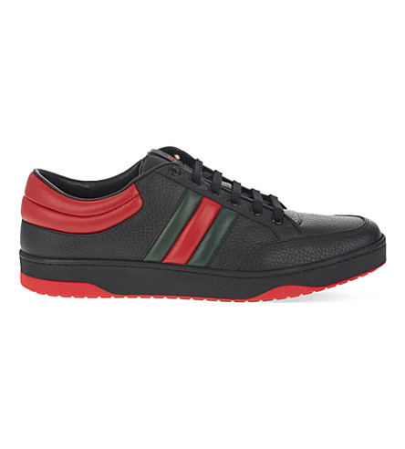 GUCCI Ronnie low leather trainers (Black