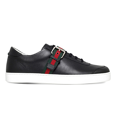 GUCCI Saville leather trainers (Black