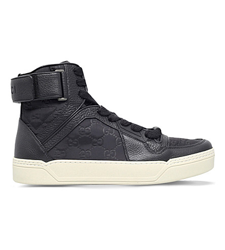 GUCCI Guccissima high top basketbal sneakers (Black