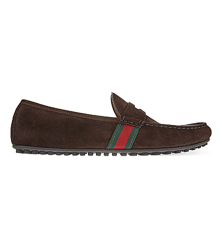 GUCCI Kanye suede driver shoes (Brown