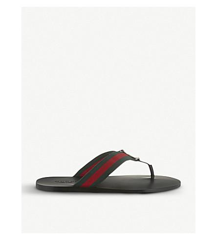 GUCCI Web flip-flops (Black