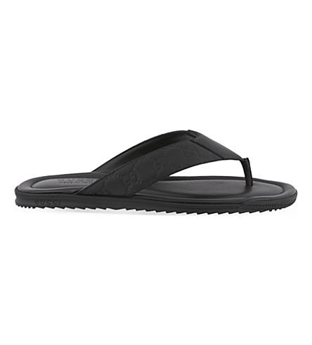 GUCCI Guccissima flip-flops (Black