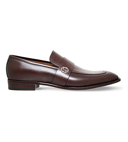 GUCCI Broadwick leather loafer (Brown