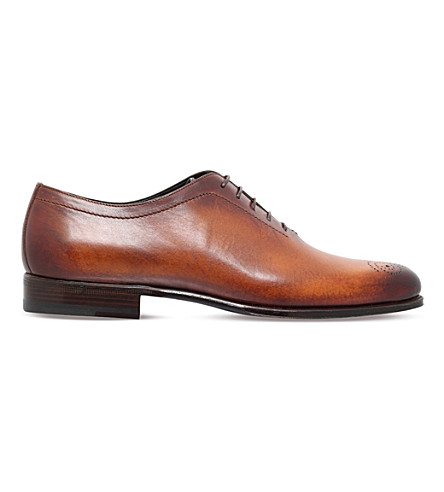 STEMAR Hand painted leather Oxford shoes (Tan