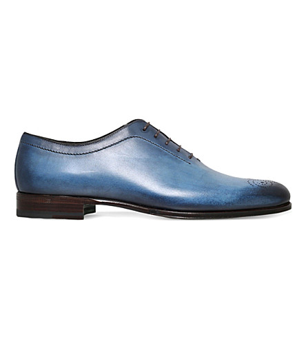 STEMAR Stemar hand-painted leather oxford shoes (Blue