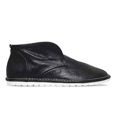 MARSELL Gomma leather boots (Black