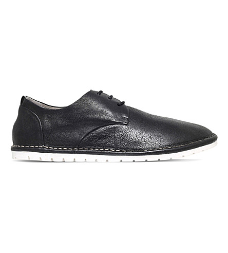 MARSELL Gomma leather derby shoes (Black