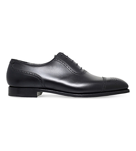 GEORGE CLEVERLEY Adam leather oxford brogues (Black