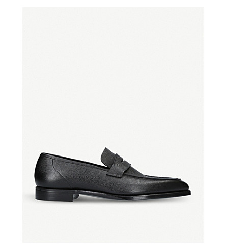 GEORGE CLEVERLEY George leather penny loafers (Black