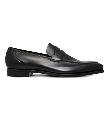 GEORGE CLEVERLEY 乔治皮革便士乐福鞋 (黑色