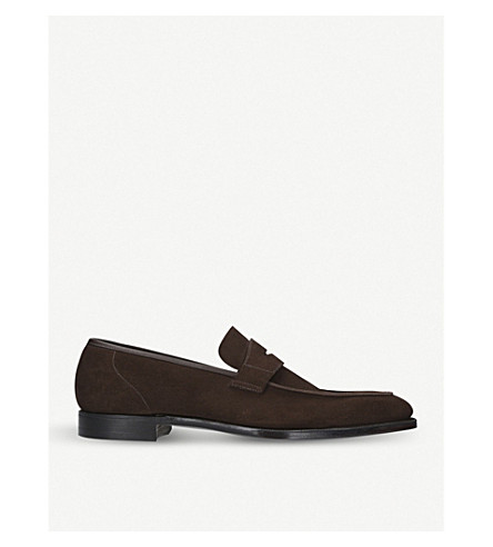 GEORGE CLEVERLEY George suede penny loafers (Brown