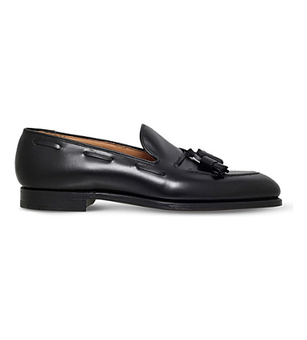 GEORGE CLEVERLEY Adrian leather loafers (Black