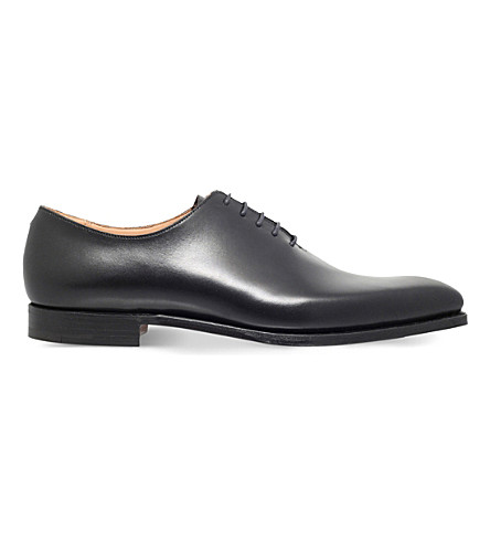 CROCKETT & JONES Alex leather shoes (Black