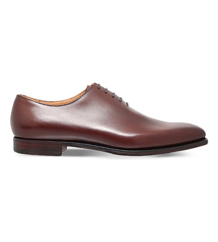CROCKETT & JONES Alex leather shoes (Tan