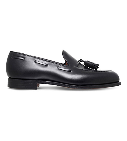 CROCKETT & JONES Cavendish leather loafers (Black