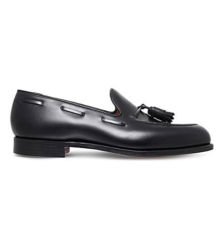 CROCKETT & JONES 卡文迪什皮革便鞋 (黑色