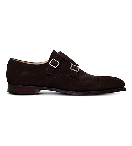 CROCKETT & JONES Lowndes leather monk shoes (Brown