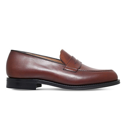 CHURCH Netton Leather Penny Loafer (Mid+brown